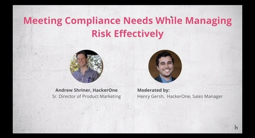 Meeting Compliance Needs While Managing Risk Effectively