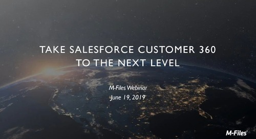 Take Salesforce Customer 360 to the Next Level