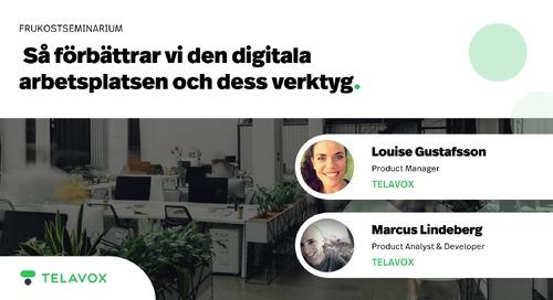 Webinar: Så förbättrar vi den digitala arbetsplatsen och dess verktyg