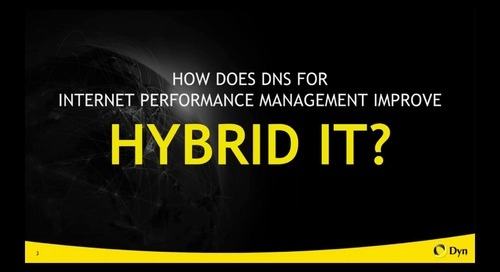 Hybrid IT- The Impact of Public Internet Performance on Your Hybrid Investments