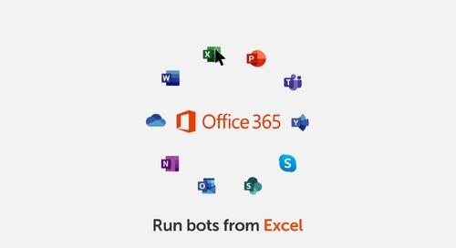 Enterprise A2019 Plugin Lets You Run Bots in Excel