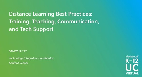 Distance Learning Best Practices