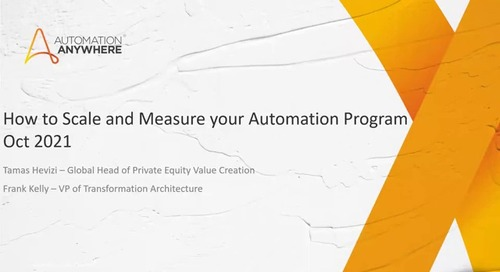 CoE Roundtable How to Scale and Measure your Automation Program with Frank Kelly