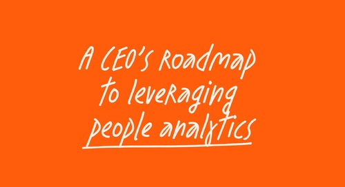 A CEO's roadmap to leveraging people analytics - feat. Hamilton City Council