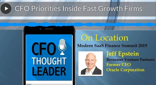 CFO Priorities Inside Fast-Growth Firms: A Talk with Jeff Epstein, Bessemer Ventures