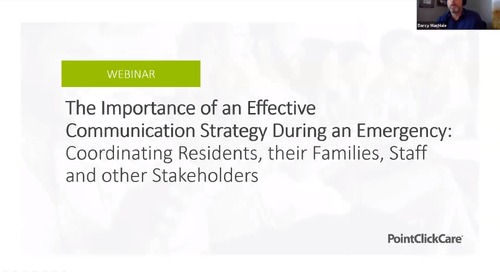 Webinar:  The Importance of an Effective Communication Strategy During an Emergency