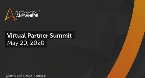Automation Anywhere Virtual Partner Summit