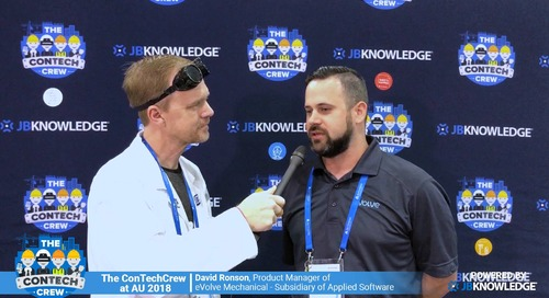 The ConTechCrew at AU 2018: Rob McKinney chats with David Ronson from eVolve Mechanical