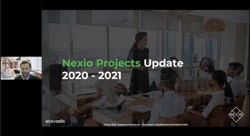 B2B Sustainability Forum: Nexio Projects Update