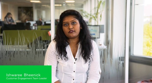 Ishwaree Bheenick, Customer Engagement Team Leader
