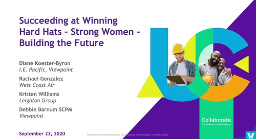 Succeeding at Winning: Hard Hats, Strong Women, Building the Future - Industry Professionals