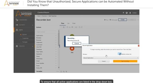 Learn RPA – Automate Any Device's Apps with Enterprise A2019