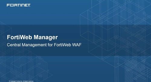FortiWeb Manager