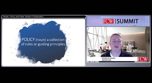 Webinar - People, Policy, and Pipes: Modern Collaboration