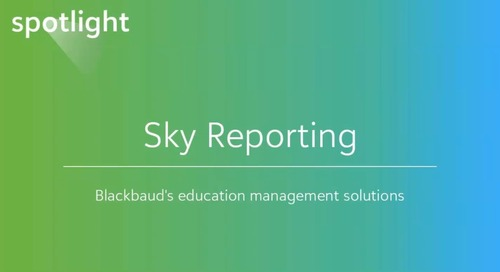 New Dashboard Builder and Insight Designer for Blackbaud's Education Management Solutions