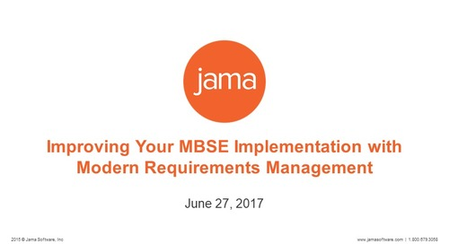 Improving Your MBSE Implementation with Modern Requirements Management