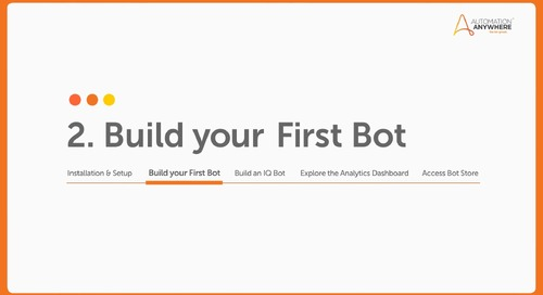 How to Build Your First Bot in Automation Anywhere Community Edition