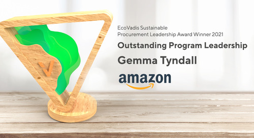Gemma Tyndall, EU Procurement Sustainability and Safety Manager, Amazon EU - Outstanding Program Leadership