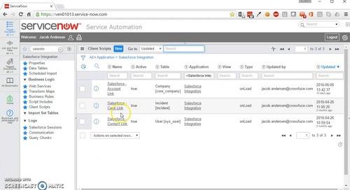 ServiceNow Salesforce Integration Demo