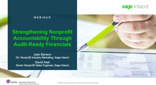 Strengthening Nonprofit Accountability Through Audit-Ready Financials
