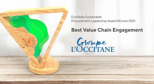 L'Occitane, Best Value Chain Engagement Award, Sustain 2021