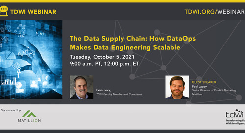 TDWI Webinar - The Data Supply Chain How DataOps Makes Data Engineering Scalable