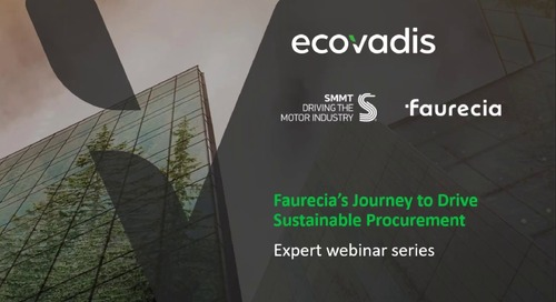 Faurecia's Journey to Drive Sustainable Procurement