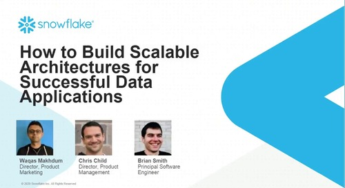 How to Build Scalable Architectures for Successful Data Applications