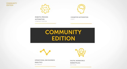 RPA: Automation Anywhere Community Edition At-A-Glance