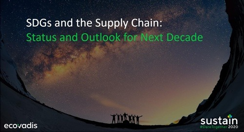 SDGs and the Supply Chain: Status and Outlook for Next Decade, Sustain 2020