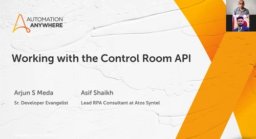 Meetup Recap: Working with the Automation 360 Control Room API