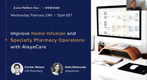 Home infusion and specialty pharmacy operations - Live Platform Tour