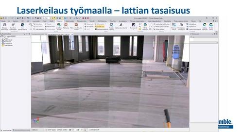 Trimblen mittalaite- ja ohjelmistoteknologia työmaalla