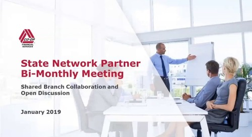 State Partner Bi-Monthly Meeting - January 2019