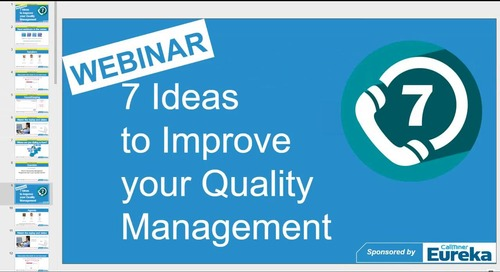 7 Ideas to Transform Quality Assurance in the Call Centre