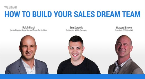 [Webinar] How to Build Your Sales Dream Team