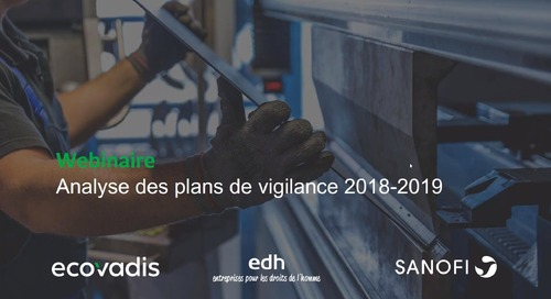 Analyse des plans de vigilance 2018-2019