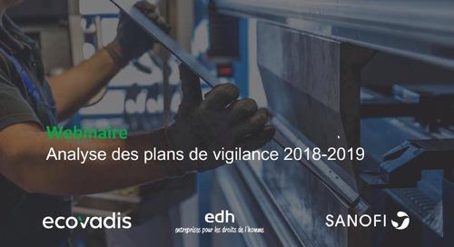 Analyse des plans de vigilance 2018-2019