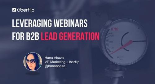 How to Leverage Webinars for B2B Lead Generation