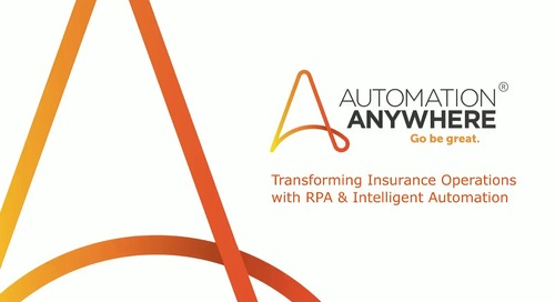 Transforming Insurance Operations with RPA & Intelligent Automation