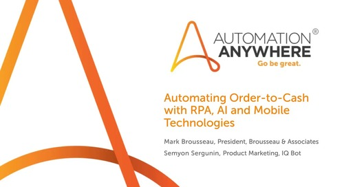 Automating Order-to-Cash with RPA and AI