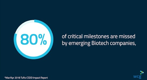 WCG Biotech Solutions: 80% of Critical Milestones Are Missed By Emerging Biotech Companies