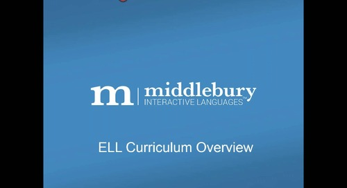 Webinar: ELL Curriculum Overview