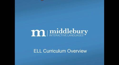 Webinar: ELL Curriculum Overview
