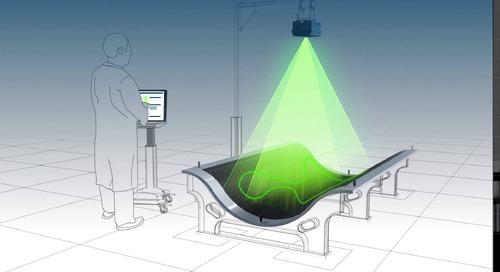 Ubicación de láminas y materiales compuestos con tecnología de proyección láser