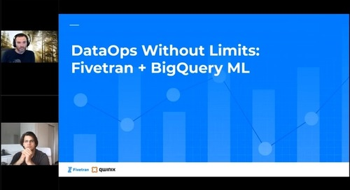 DataOps Without Limits: Fivetran + BigQuery ML