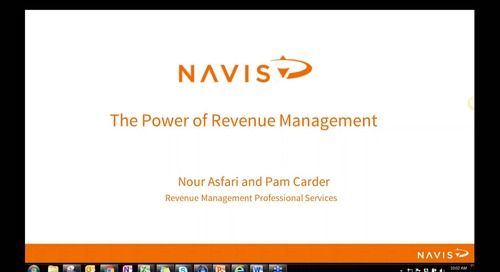 NAVIS Performance Series: The Power of Revenue Management Best Practices
