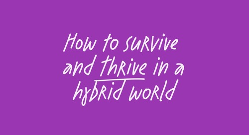 What can leaders do to thrive in a hybrid world?