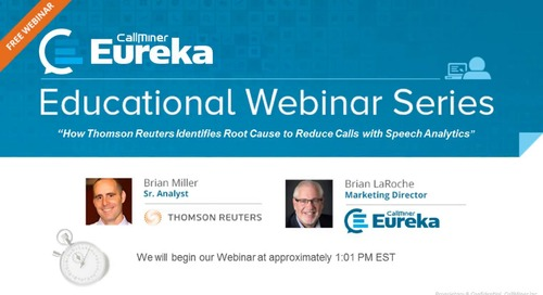 Identify Root Cause to Reduce Calls Featuring Thomson Reuter's
