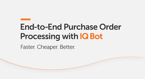 IQ Bot Makes the End-to-End Purchase Orders Better